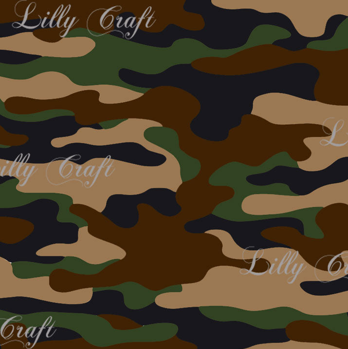 Camouflage Poly Cotton, 58