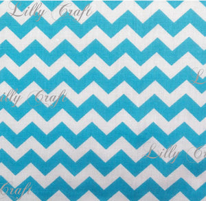 "Chevron 1/2"" Pattern Cotton Fabric 60 Inch Wide Fabric By the Yard (Variety of Colors)"