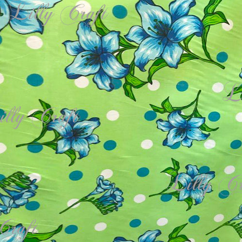 Lilly Craft Lillies on Colorful Fabrics Poly Cotton, 58
