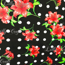 "Lilly Craft Lillies on Colorful Fabrics Poly Cotton, 58""/60"" Inches Wide – Sold By The Yard"