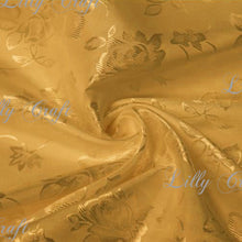 "Brocade Jacquard Satin NO STRETCH Fabric 58""- 60"" Wide - Sold By The Yard MORE THAN 30 COLORS"