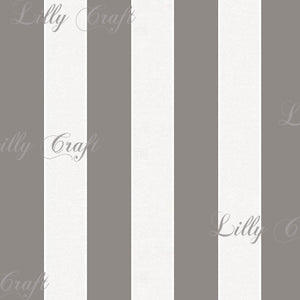 "Striped 1"" Poly Cotton Fabric - Sold By The Yard - 58"" / 59"""