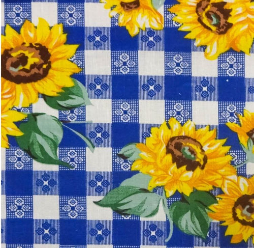 Sunflowers Checkered Poly Cotton, 58