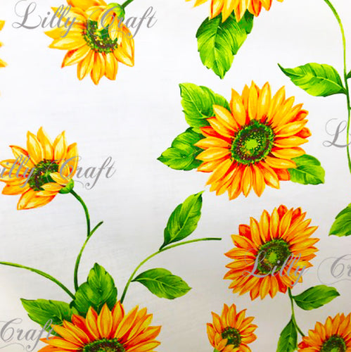 Sunflowers Poly Cotton, 58