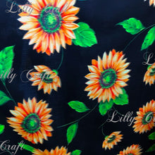 "Sunflowers Poly Cotton, 58""/60"" Inches Wide – Sold By The Yard"