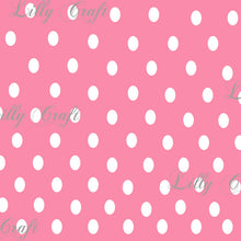 "Polka Dots 1/4"" Poly Cotton Fabric - Sold By The Yard - 58"" / 60"""