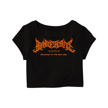 Brand Of Sacrifice - Welcome To The New Age Crop Top