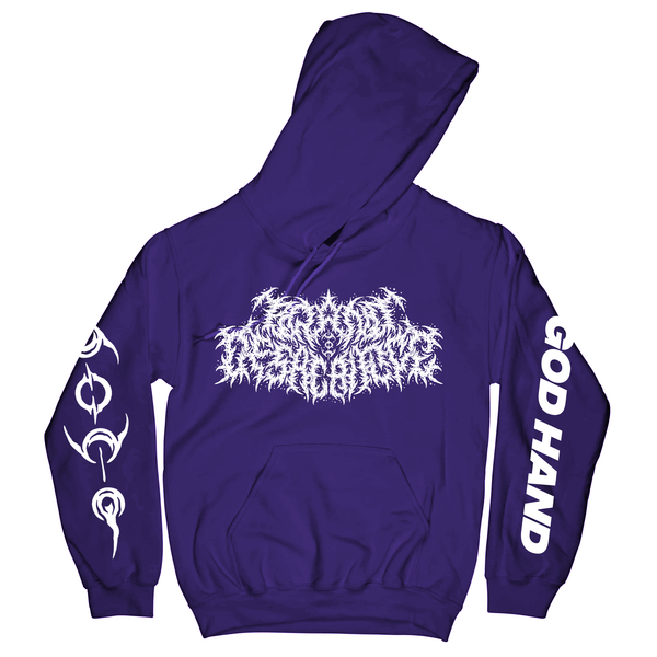 Brand Of Sacrifice - God Hand Purple Hoodie