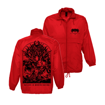 To The Grave - No Life Red Windbreaker