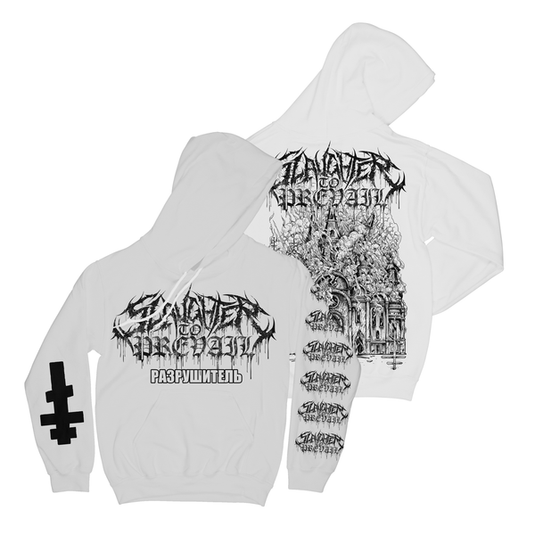 Slaughter To Prevail - Demolisher Church White Hoodie