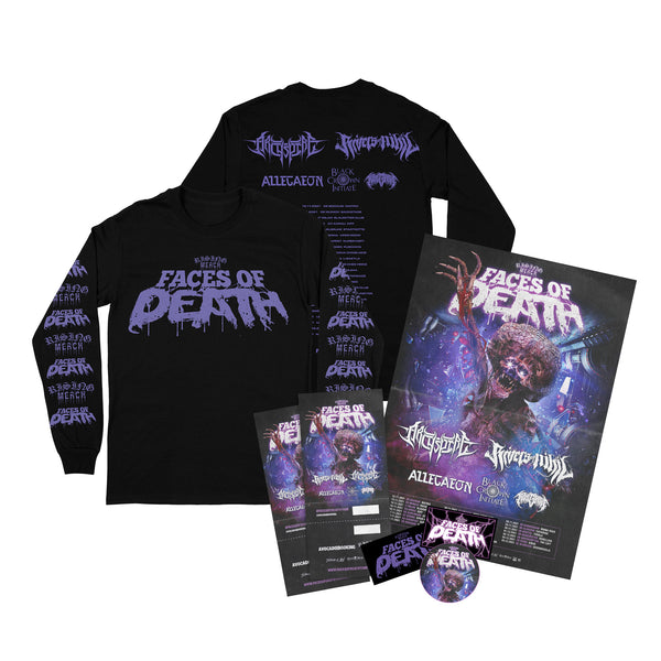 Rising Merch Faces Of Death Tour Longsleeve Bundle (18/11/2021 Budapest, Hungary)
