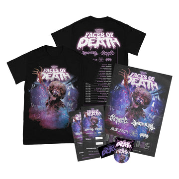Rising Merch Faces Of Death Tour Tshirt Bundle (24/11/2021 Copenhagen, Denmark)