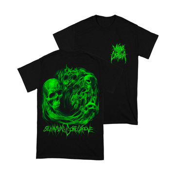 Waking The Cadaver - Green Slamming Gore Groove Shirt