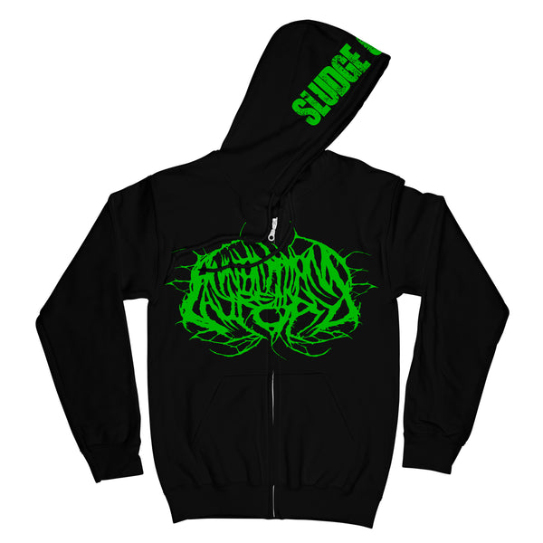 Annotations Of An Autopsy - Sludge City Zip Up Hoodie
