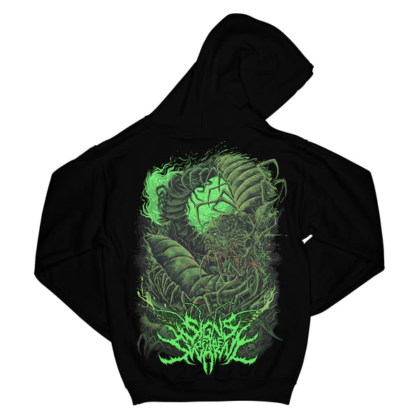 Signs Of The Swarm - Green Insectum Hoodie