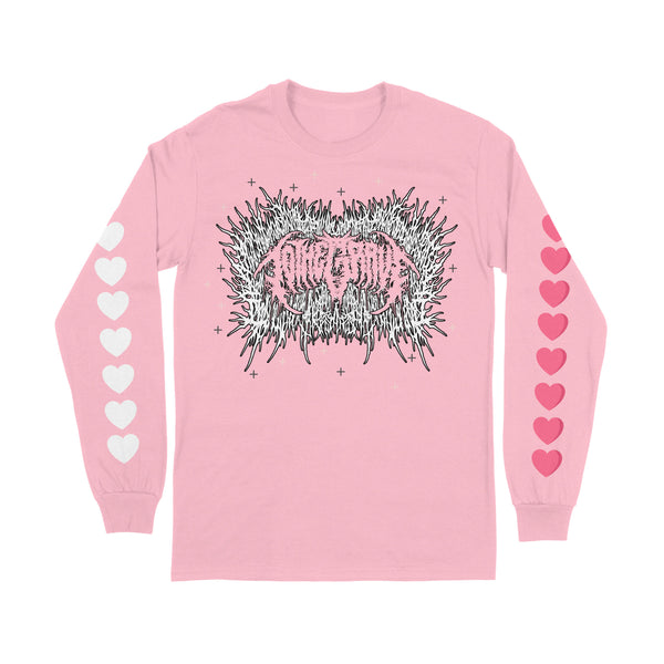 Xavleg/To The Grave - Logo Love Heart Long Sleeve