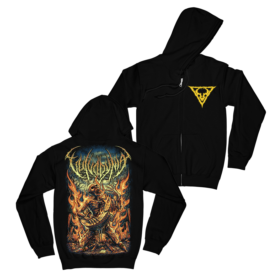 Lit Necklacing Zip Up Hoodie