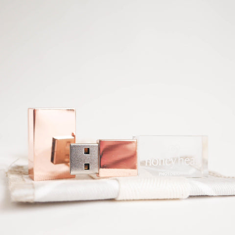 Glass USB Flash drive with Packaging