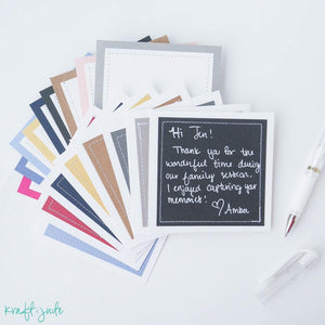 Stitched Color Cards (Pack of 3)