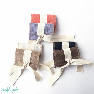 Mini Burlap Flash Drive Pouch (8 colors)