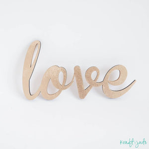 """love"" Wooden Prop Sign"