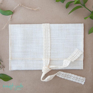 Linen Print Pouches (5 colors)