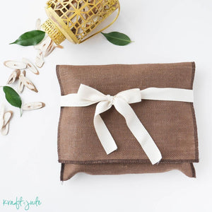 Burlap Pouches (8 colors)