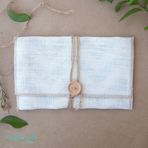 Burlap Print Pouches (8 colors)