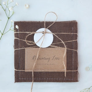 Burlap Single CD Sleeve (8 colors)