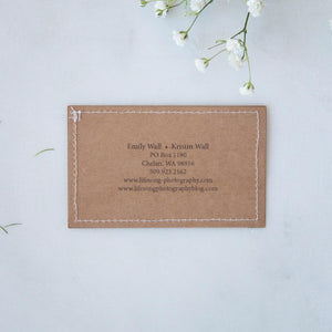 Stitched Business Cards (Pack of 8)