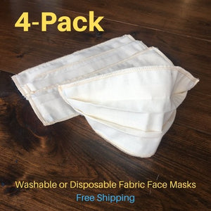 Face Masks - Reuseable / Disposable Fabric Face Mask Covering