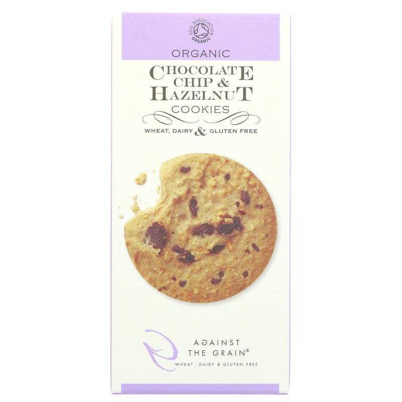 Against The Grain Organic Choc Chip & Hazelnut Cookies (150g)