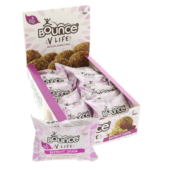Bounce Vegan Beetroot & Cashew Balls (40g)