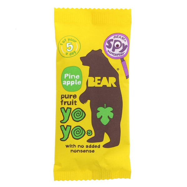 Bear Yoyo Pure Fruit Rolls - Pineapple (20g)
