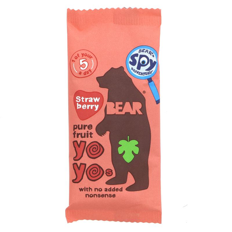 Bear Yoyo Pure Fruit Rolls - Strawberry (20g)