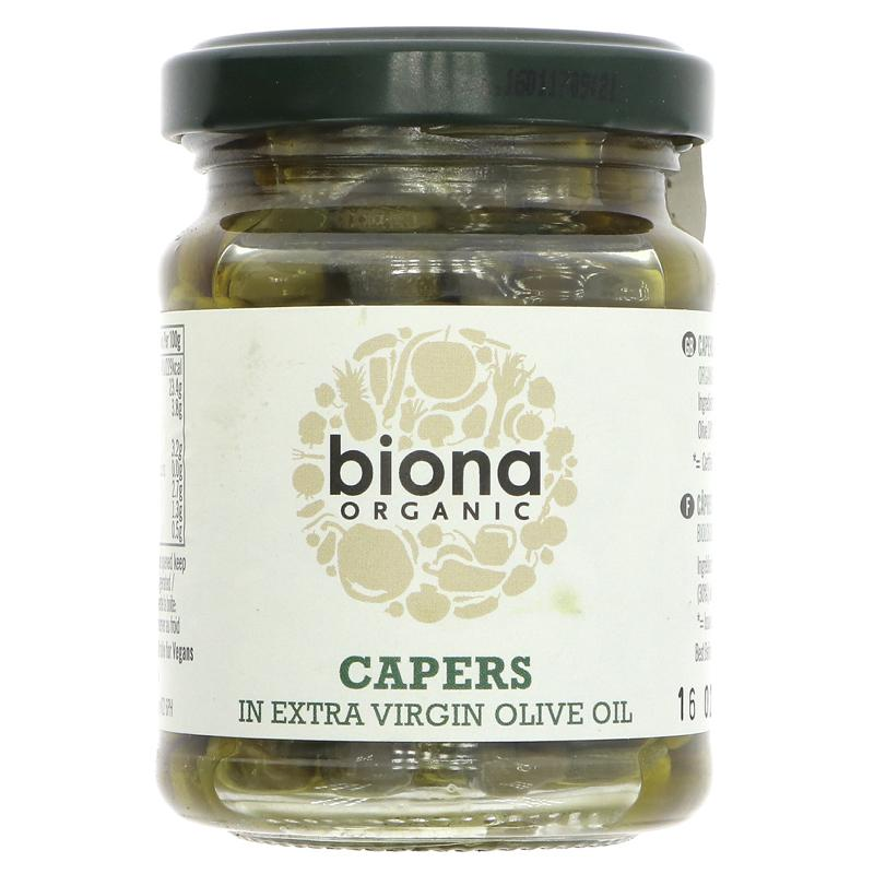 Biona Capers In Olive Oil (120g)
