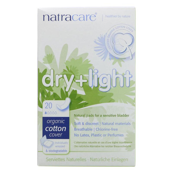 Natracare Dry & Light Incontinence Pads (x20)