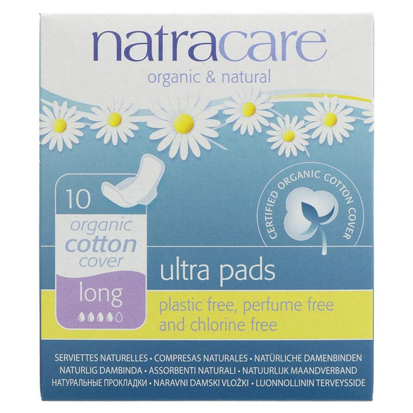 Natracare Ultra Pad - Long with Wings (x10)