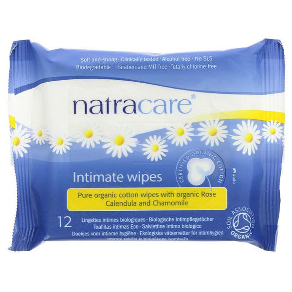 Natracare Organic Cotton Intimate Wipes (x12)