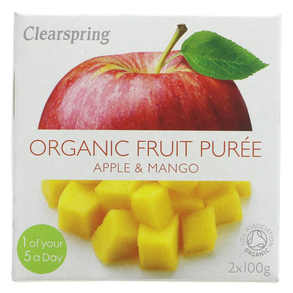 Clearspring Apple & Mango Puree - Organic (2 x 100g)
