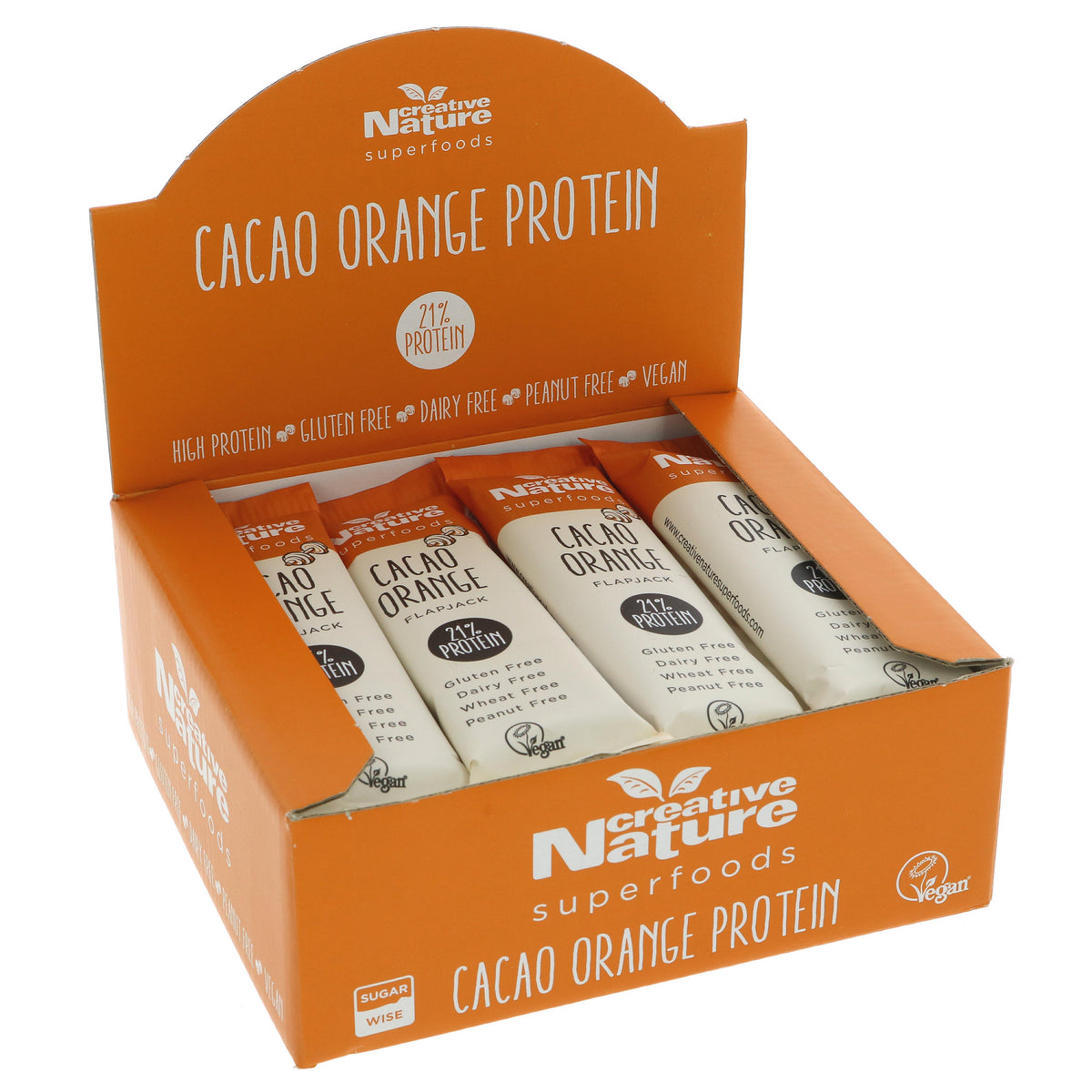 Creative Nature Cacao Orange Flapjack Bar  (40g)