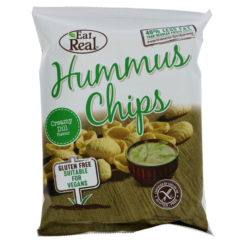 Eat Real Humus Creamy Dill Chips (45g)