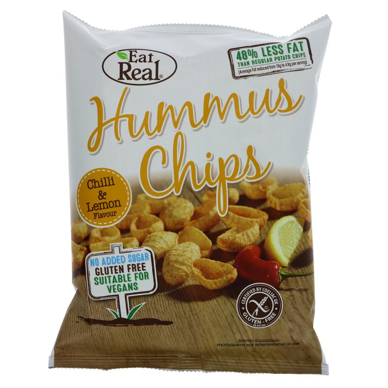 Eat Real Humus Chilli & Lemon Chips (45g)