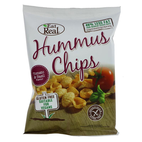 Eat Real Humus Tomato & Basil Chips (45g)