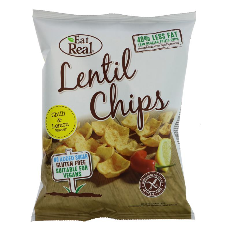 Eat Real Lentil Chilli & Lemon Chips (40g)