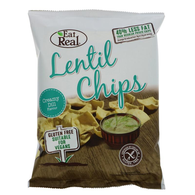 Eat Real Lentil Creamy Dill Chips (40g)