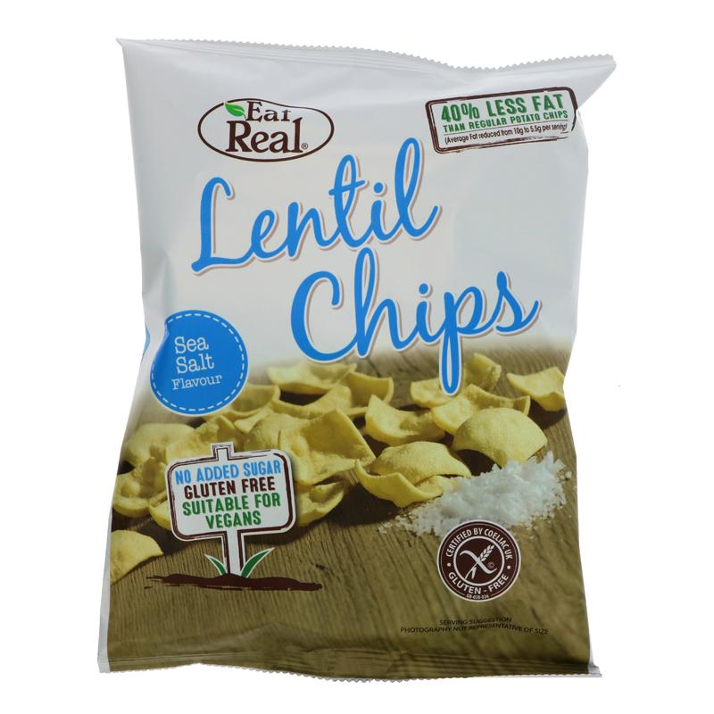 Eat Real Lentil Sea Salted Chips (40g)