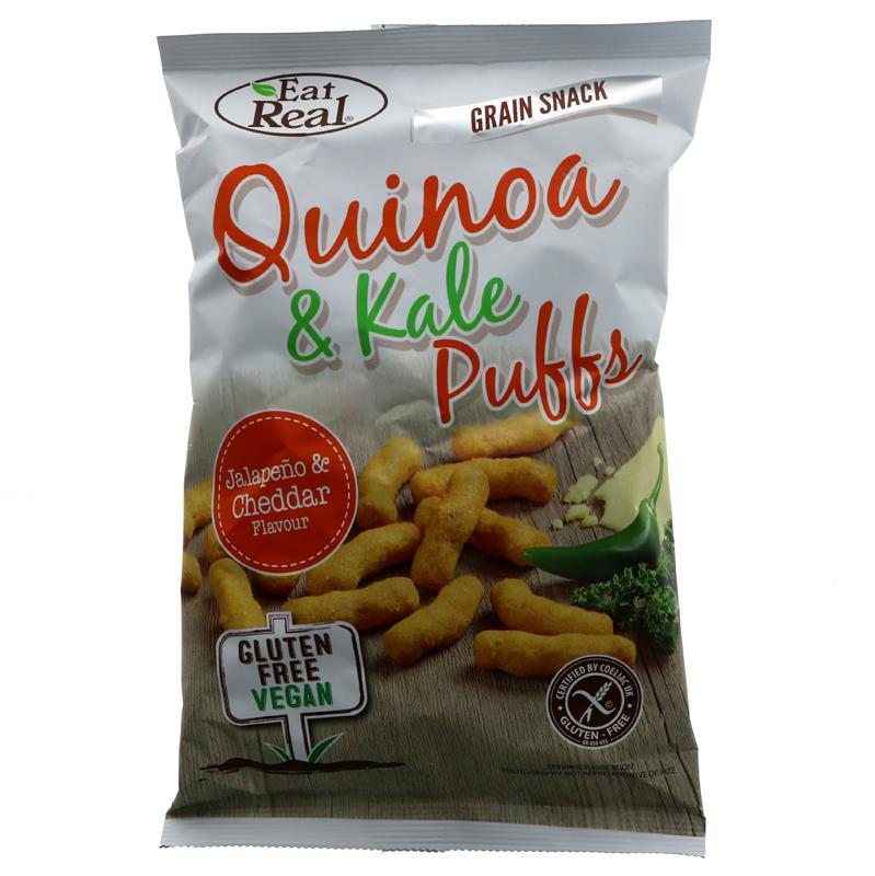 Eat Real Quinoa Kale Puffs Jalapeno (113g)
