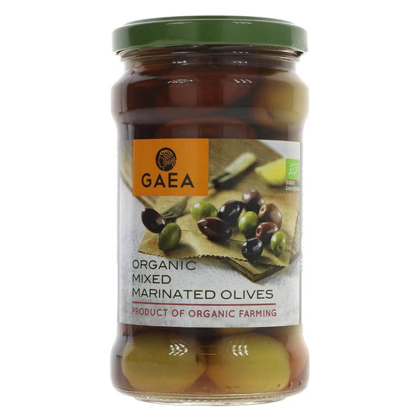 Gaea Mixed Marinated Olives - Organic (300g)