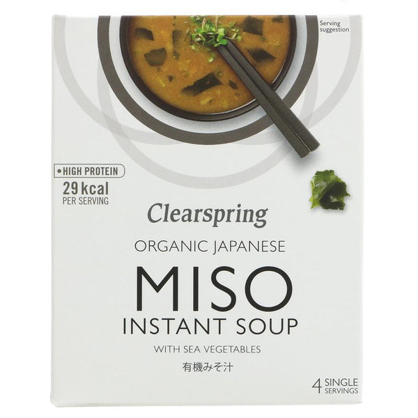 Clearspring Instant Miso Soup and Sea Veg (4x10g)